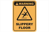 Slippery Floor warning sign