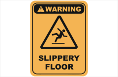 Slippery Floor warning sign