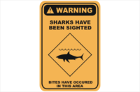 Shark Danger warning sign