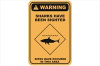 Shark Danger warning sign