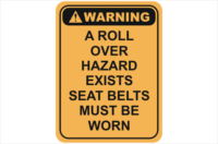 roll over hazard warning sign