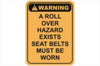 roll over hazard warning sign