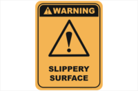 Slippery Surface sign