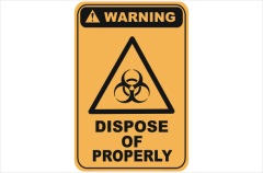 dispose of properly, biohazard