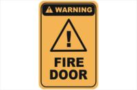 Fire door warning sign