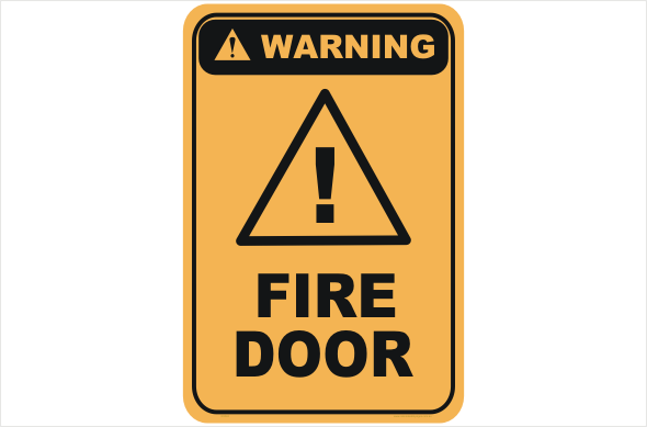 Fire door warning sign