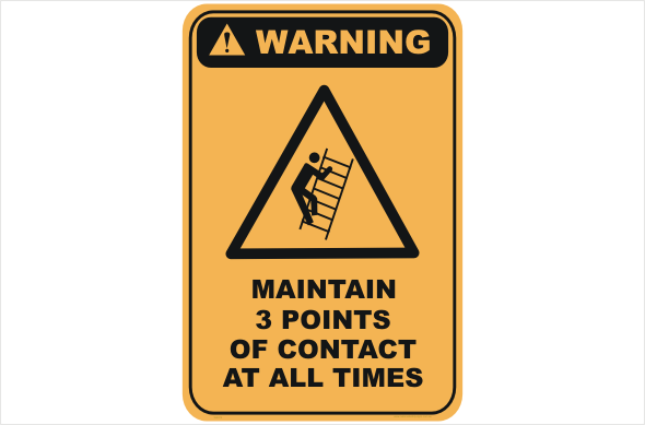 3 Points of Contact warning sign