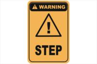 Step warning sign