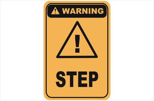 Step warning sign