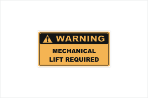 Mechanical Lift Required