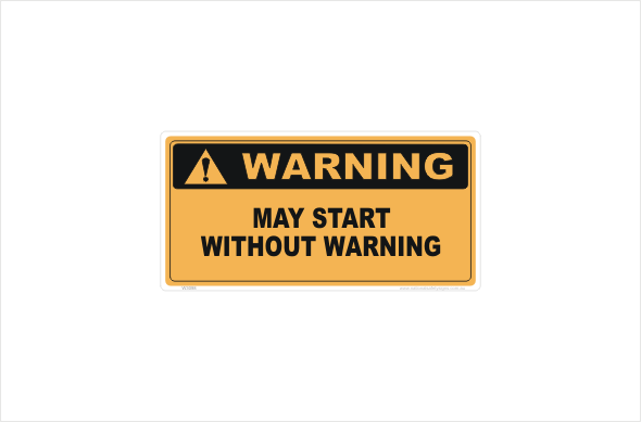 May Start Without Warning Stickers