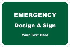 Customise your Emergency Sign