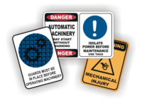 Machinery Signs