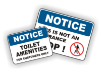 Notice Signs - Notice and Instructions