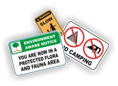 Parks, Reserves and Environment Signs