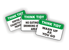 Think Tidy Signs