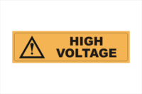 High Voltage label