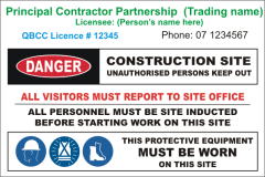 Principal Partnership Contractor site sign