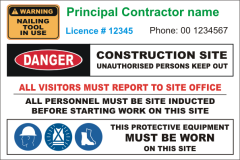 Principal Building Contractor site sign