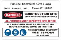 Principal Contractor site sign