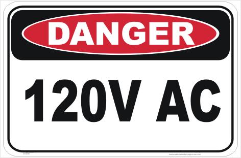 120V AC sign