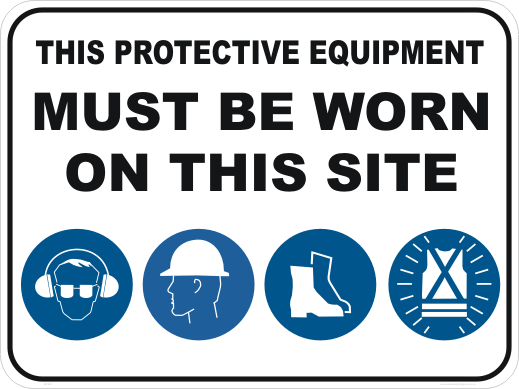 Ppe Signs Site Safety Signs National Safety Signs Online