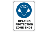 Hearing Protection Zone Ends