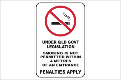 QLD No Smoking Signs