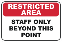 staff only beyond this point