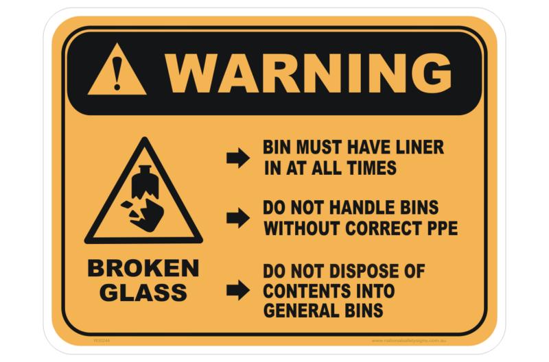 Broken Glass sign