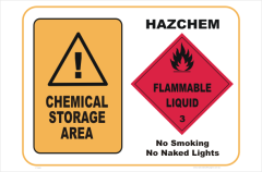 Chemical Storage HazChem #3