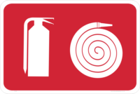 Fire Hose and Extinguisher
