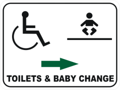 Baby Change room Sign