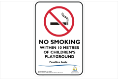 TAS No Smoking within 10 metres of childrens playground