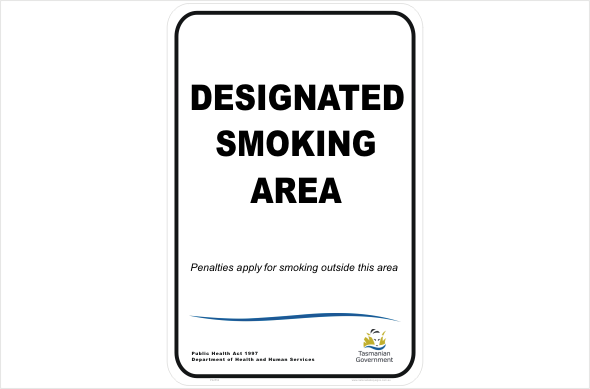Tasmanian Smoking sign