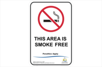 TAS This area is Smoke Free