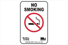 Victoria smoking sign