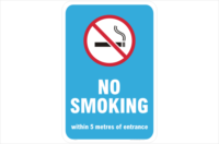 WA No Smoking within 5 metres of entrance