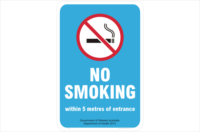 WA No Smoking within 5 metres of entrance Sign