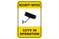 SECURITY CAMERA CCTV in operation