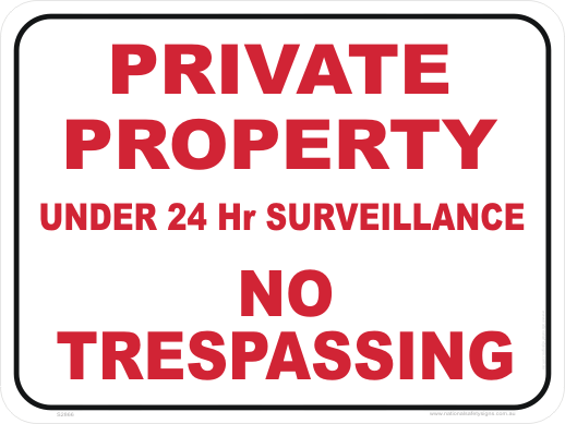 Private Property Sign S2866