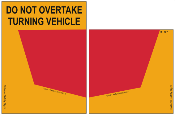 Truck Do not overtake sign