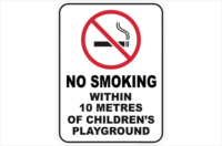 No Smoking within 10 metres of childrens playgound