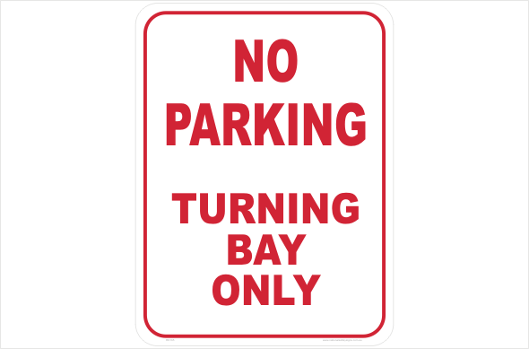 no parking turning bay only