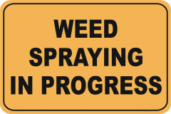 Weed Spraying In Progress