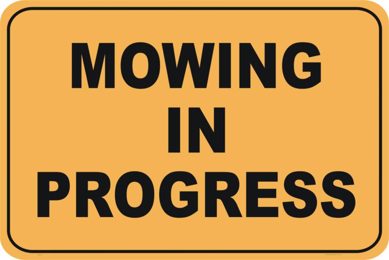Mowing In Progress