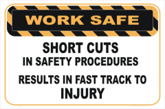 short cuts lead to Injury