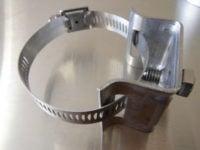 Pole sign clamp bracket