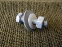 6mm Bolt and nut with washer and nylon protector x 4