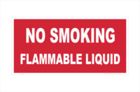 No Smoking flammable liquid